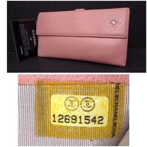 Auth Chanel Camellia Wallet + Authenticity Card